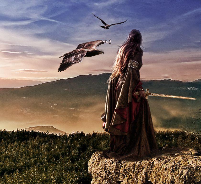 Eagle woman by Bergkristalle | Fantasy images, Fantasy warrior ...