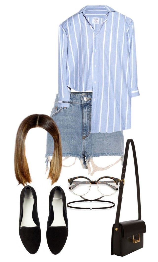 Sem título #1013 by army-forever on Polyvore featuring polyvore fashion style Vetements River Island Yves Saint Laurent Ileana Makri clothing