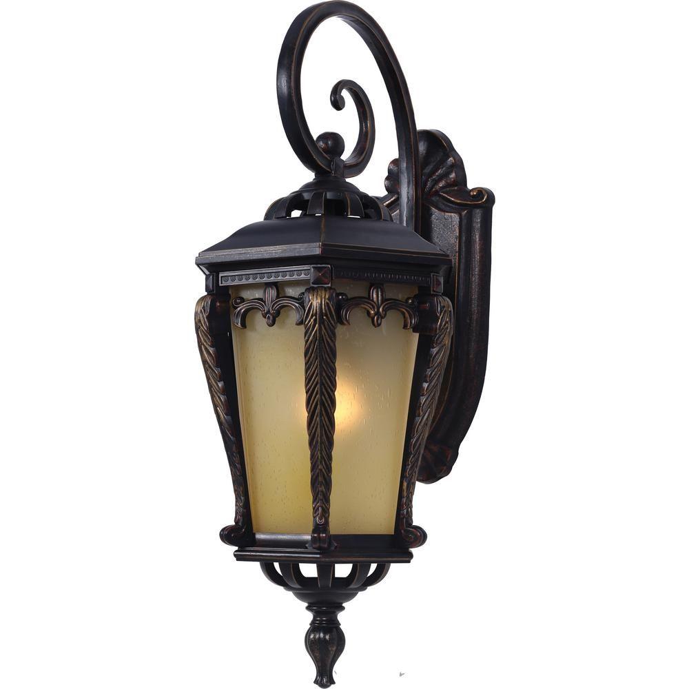 Volume Lighting 1 Light Indoor Or Outdoor Golden Rust