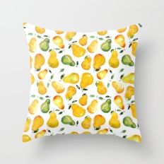 Sweet pears Throw Pillow