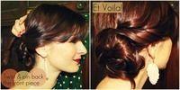How to style a hair bun. Lauren Conrad Braided Bun - Step 3 # side Braids lauren conrad Lauren Conrad Braided Bun #laurenconradhair