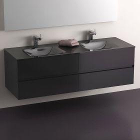 meuble salle de bain 150 cm noir