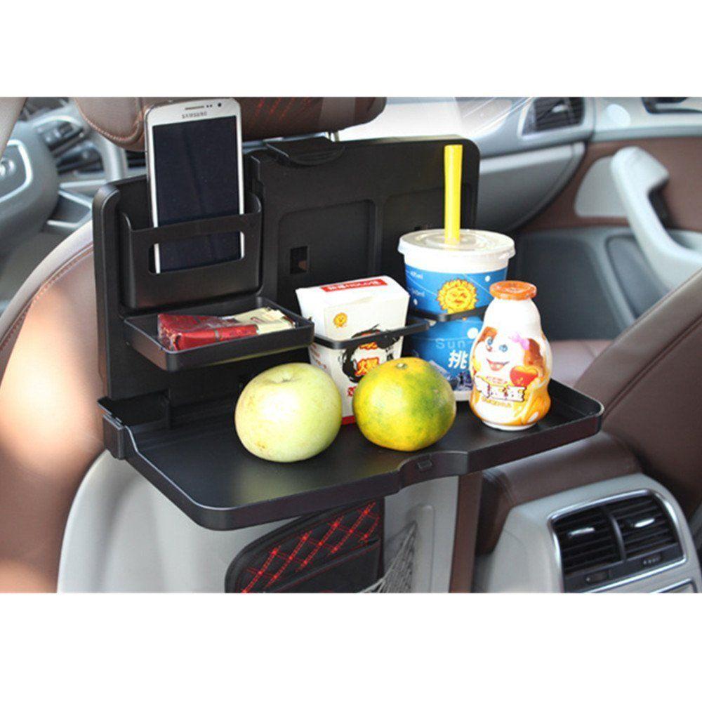 Black travel dining tray foldable car back
