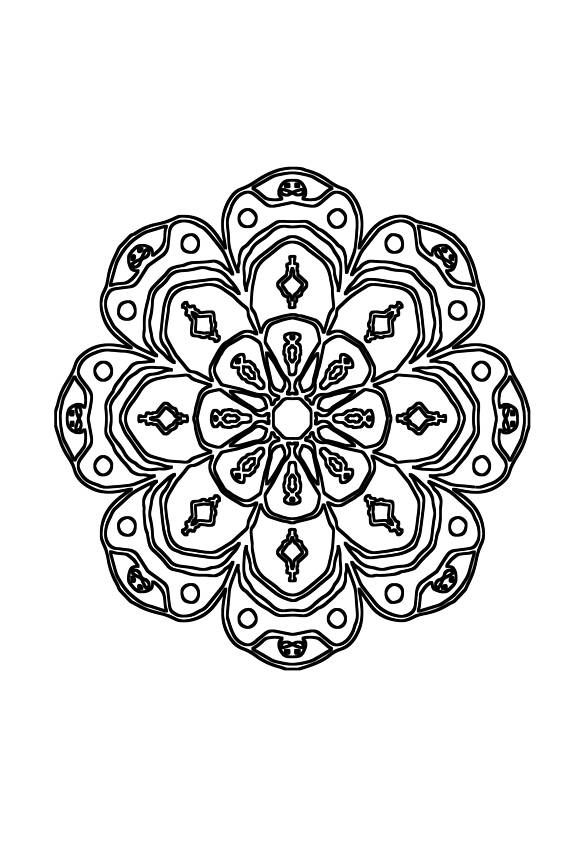 Easy Mandalas Coloring Therapy Notebook Journal Vol All Ages Mandala Pages Art Relaxation