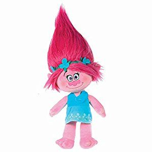 Trolls Plush toy princess Poppy 14//37cm pink hair Quality super soft