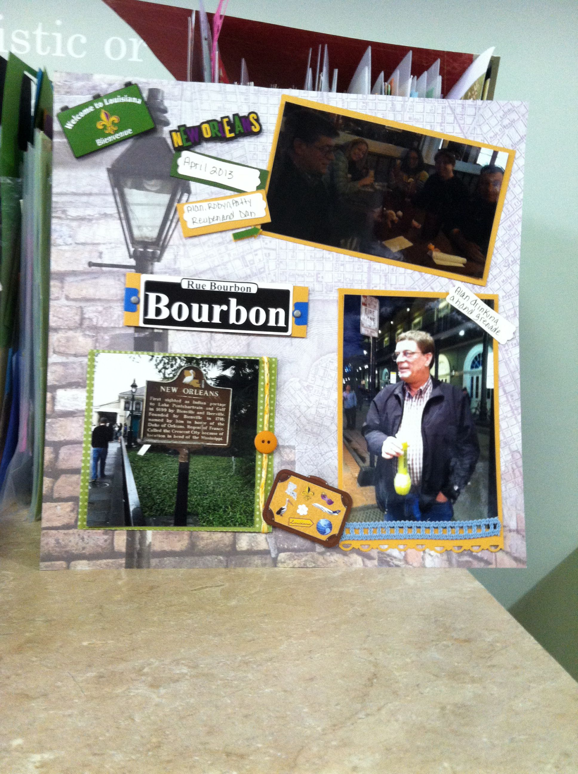 Scrapbook ideas new orleans - New Orleans Scrapbook Page