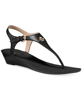 COACH Vitalia Wedge Thong Sandals | Sandals | Sandals, Shoes