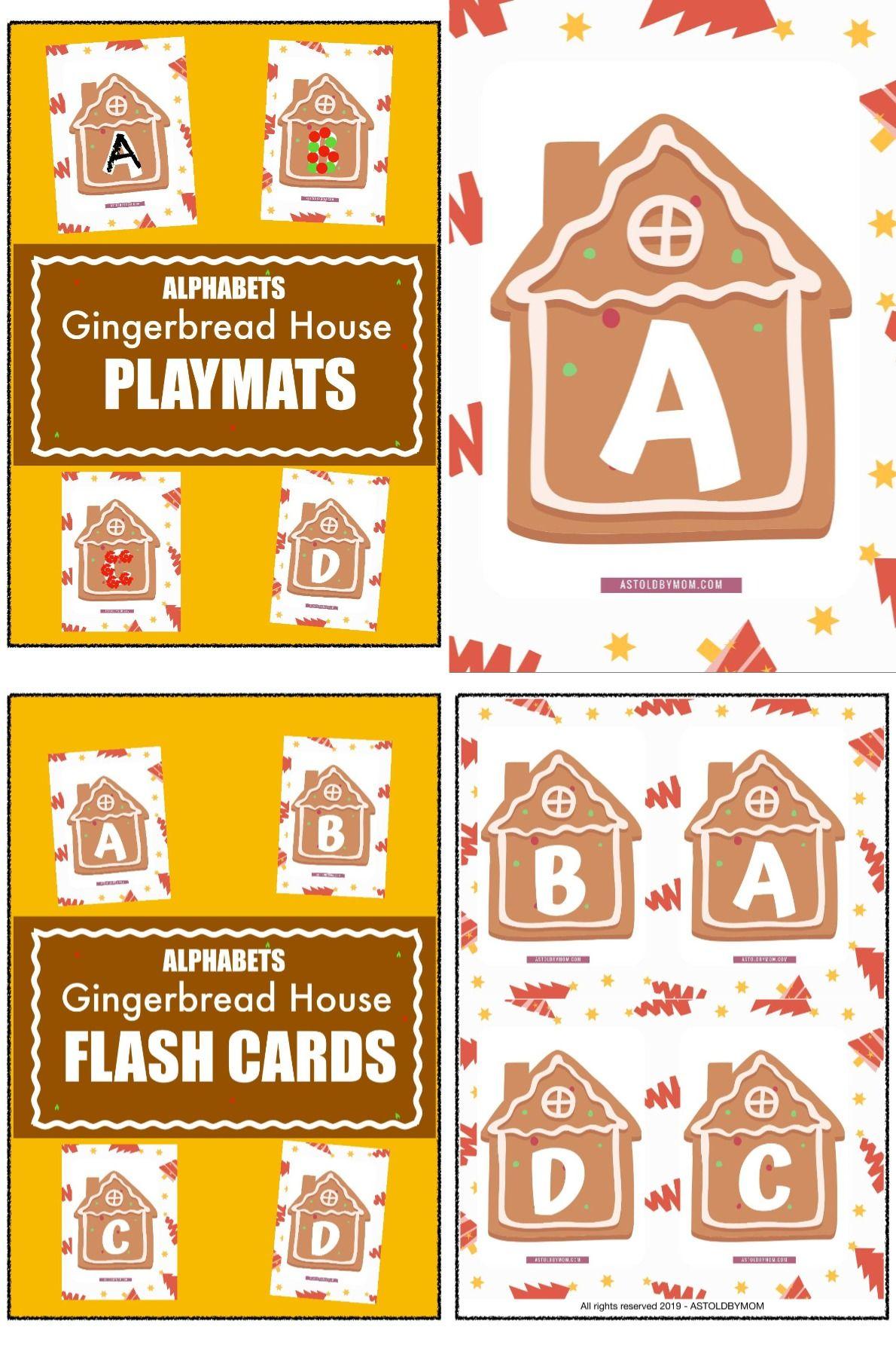 100 Gingerbread House English Alphabets Playmats Amp Flash