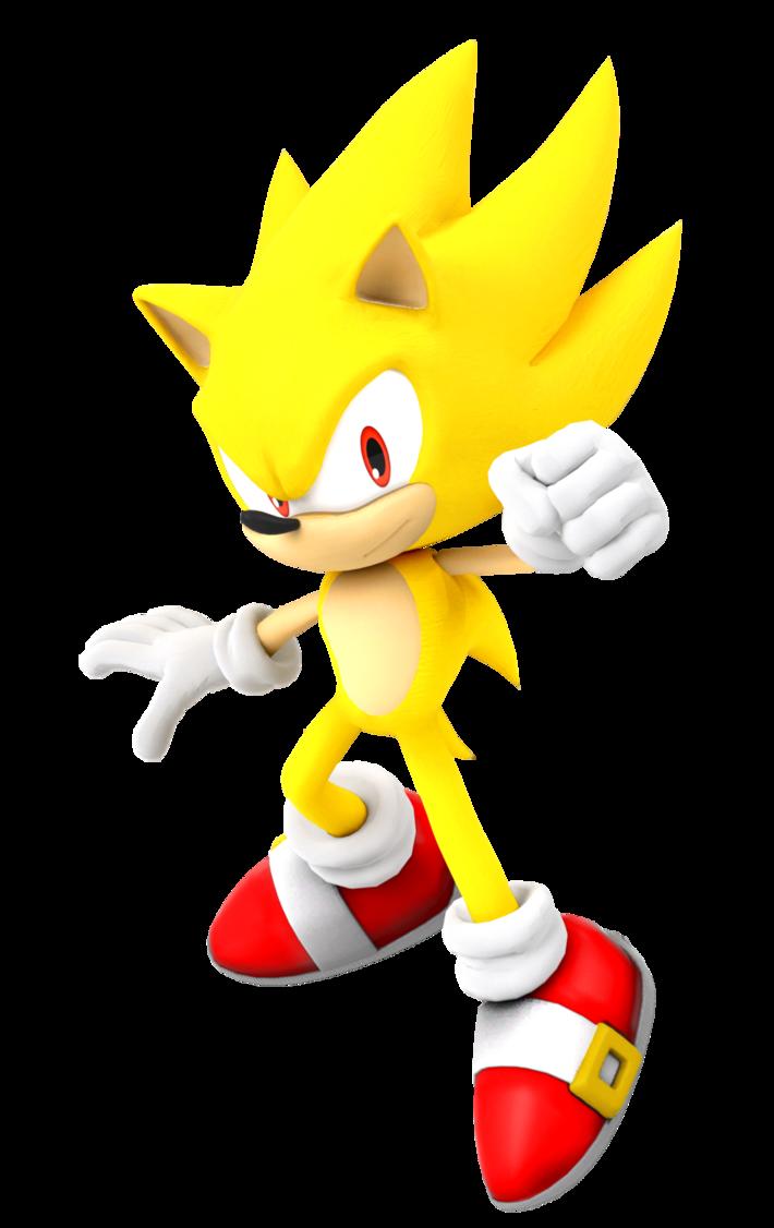 Super Sonic Render By Kamtheman56 Sonic Super Rendering