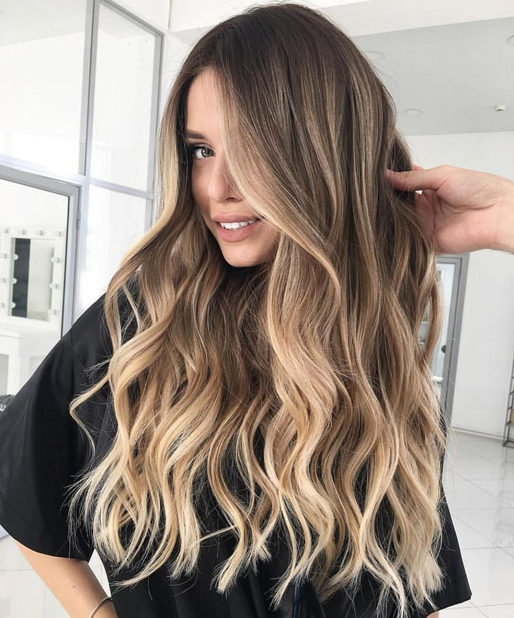 Tape in Balayage Brown Highlighted Medium Blonde Human Hair Extensions #4/6/22