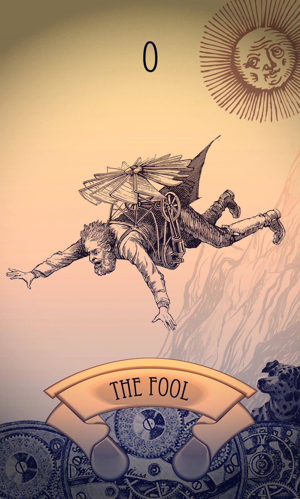 Steampunk tarot card the fool by tiabryn71