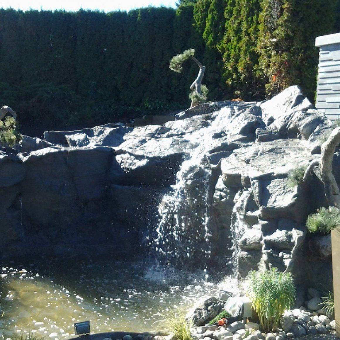 The Faux Rock Below Waterline Must Be Waterproofed With A Stone Texture Plaster Coat To Insure That Pool Will Not Leak