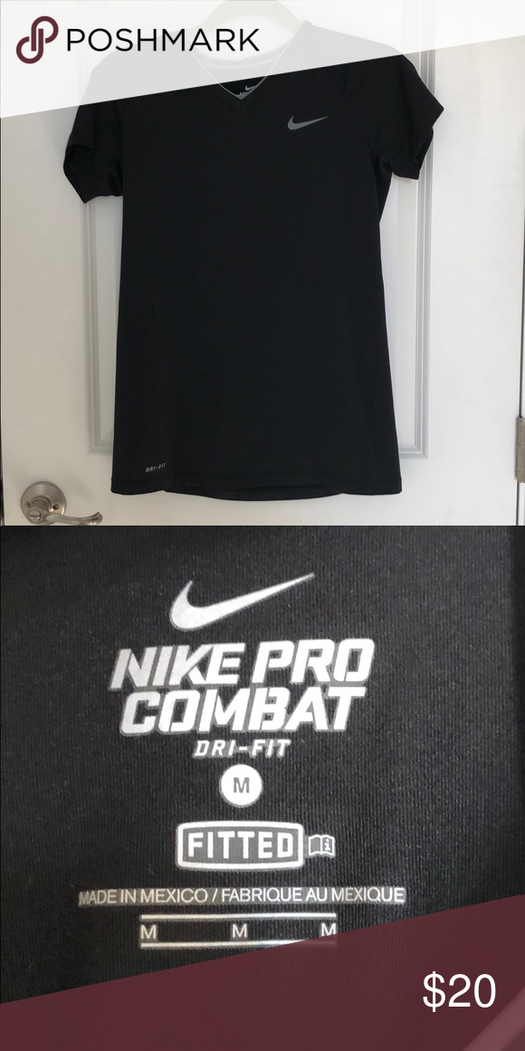 30a9e88d1fb26 Black Nike Fitted T-Shirt. Nike Pro CombatBlack NikesNike ProsMuscle Tees WorkoutWork Outs