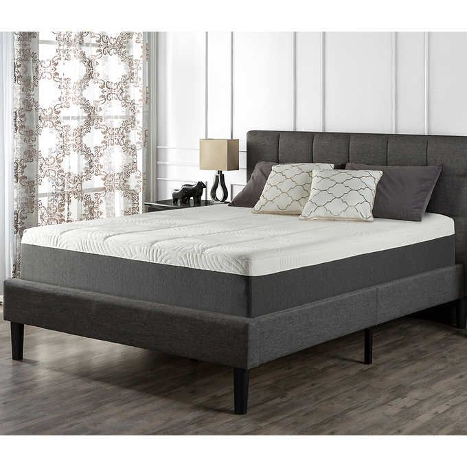 Blackstone Upholstered Square Stitched Platform King Bed
