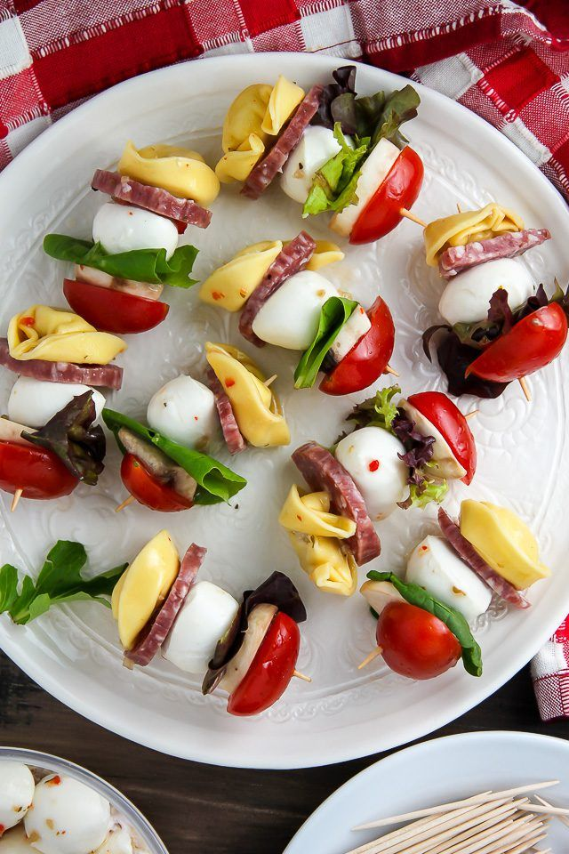 An Easy Recipe For Italian Antipasto Skewers Perfect For Parties And Large Gatherings You Can Make Them Up To  Hours In Advance