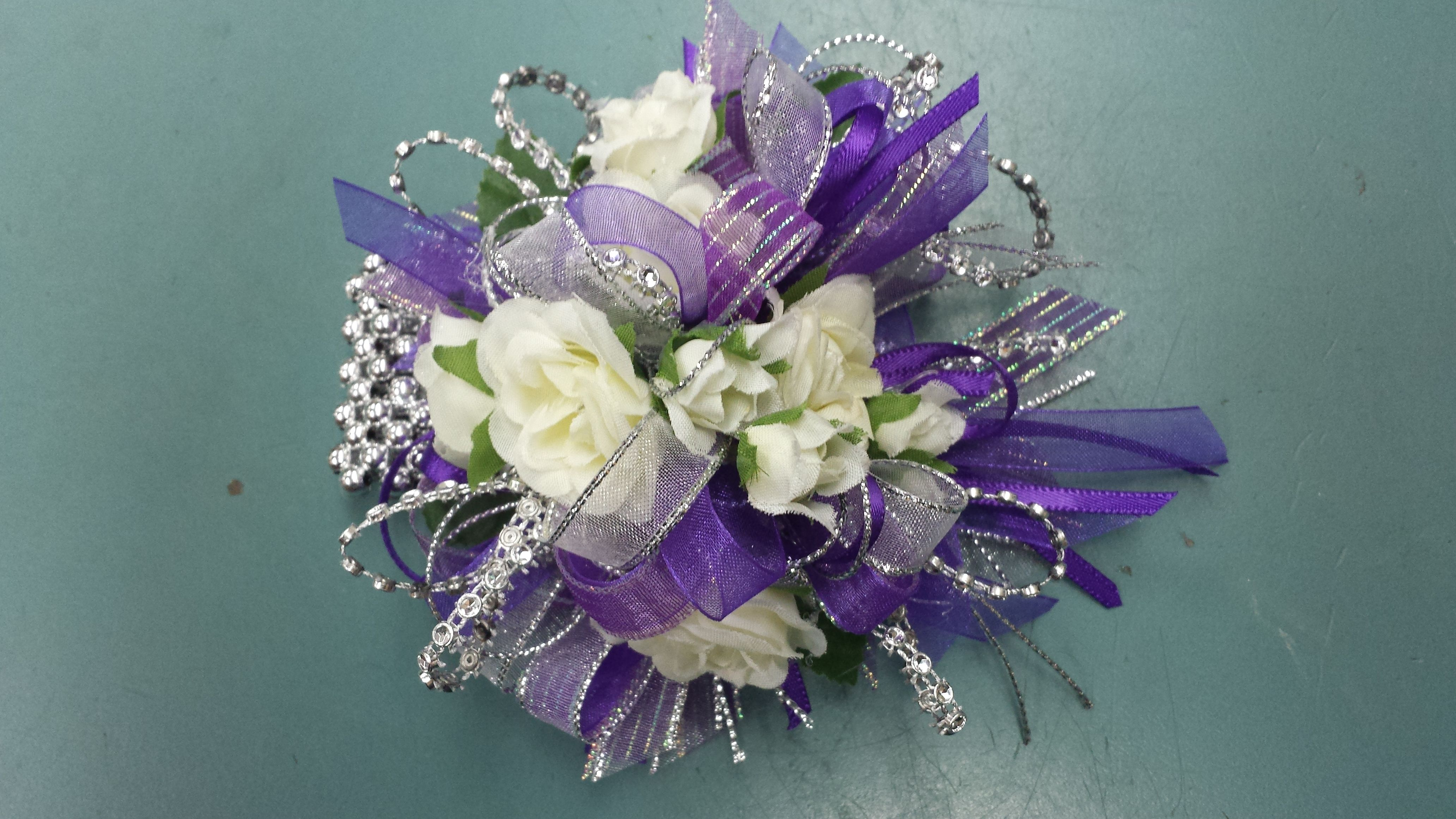 Wrist Corsage from Gallery Florist and Gifts, Mebane, NC. www.galleryfloristandgifts.com