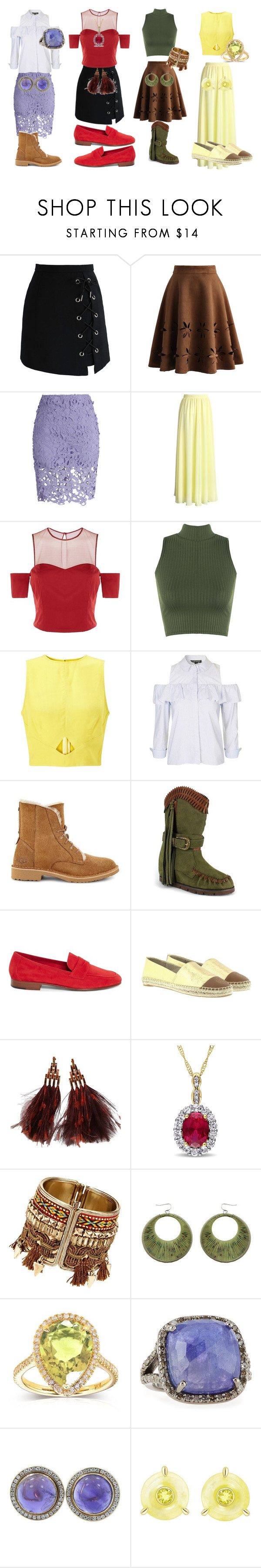 """""""Geen titel #216"""" by sweetytrends ❤ liked on Polyvore featuring Chicwish, Pinko, WearAll, Miss Selfridge, Topshop, UGG, Mojo Moxy, Tory Burch, Louis Vuitton and Kobelli"""