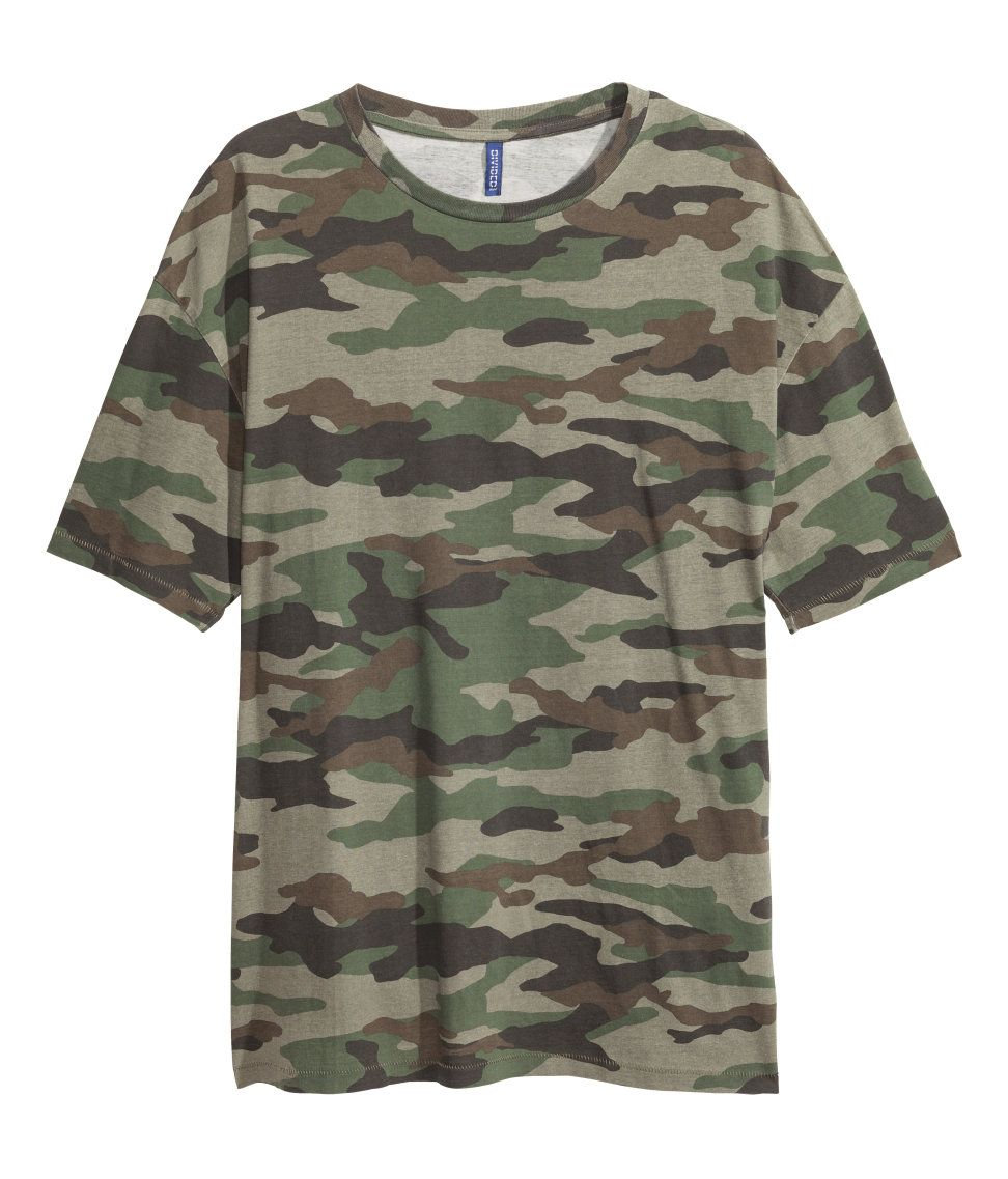 c4603367 Patterned T-shirt | H&M Divided Guys | H&M MAN DIVIDED | Fashion ...