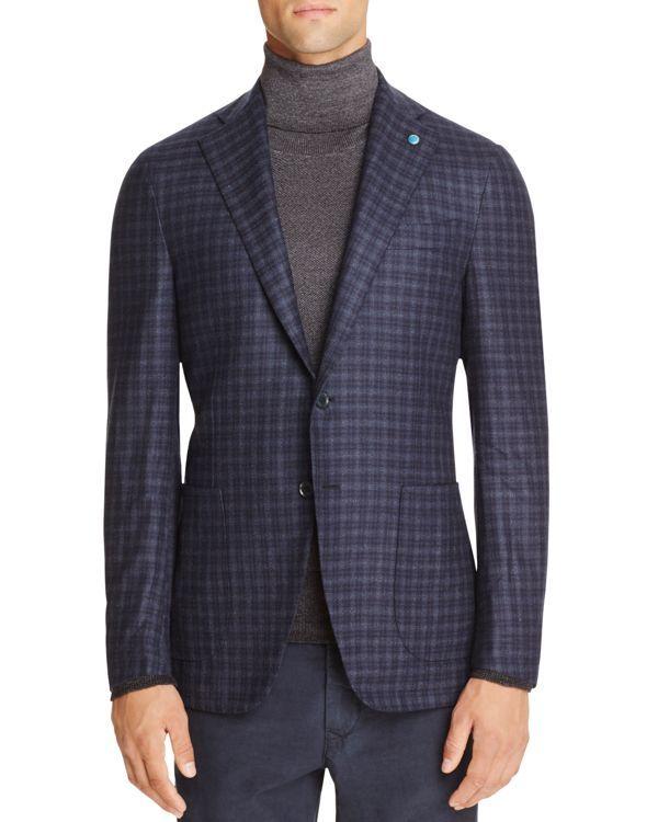 Eidos Tonal Check Slim Fit Sport Coat