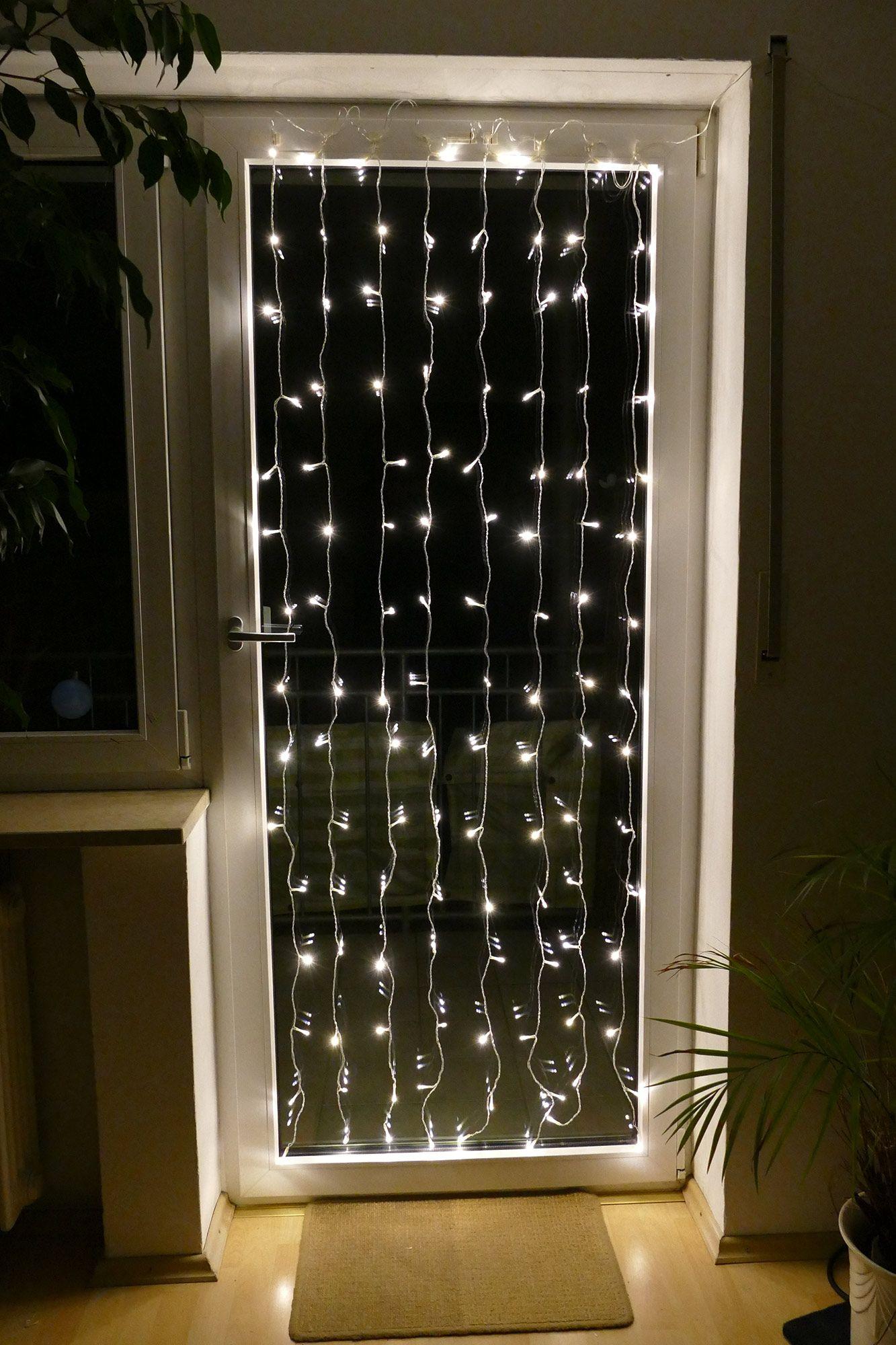 Fensterbeleuchtung Weihnachten Led.Lichtervorhang Zur Deko Weihnachten 2018 Fensterbeleuchtung Für