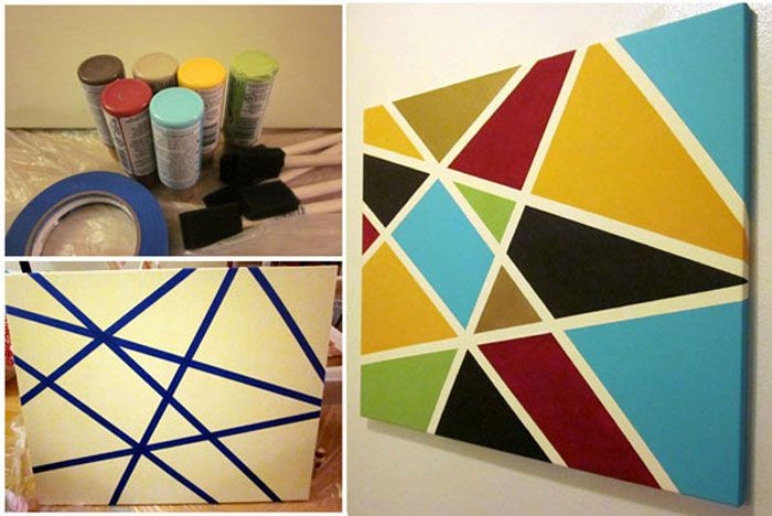 Create Beautiful Custom Art With This Awesome Tape Painting Technique The Possibilities Are Endless Tape Painting Abstract Painting Diy Art Drawings For Kids