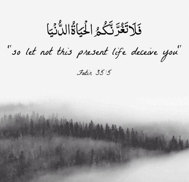 Citaten Quran English : Quran وما الحياة الدنيا الا متاع الغرور islam