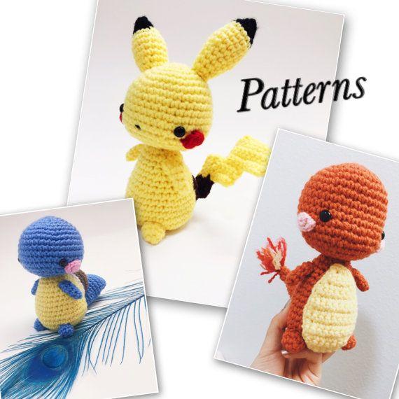 Kawaii Pokemon Amigurumi Pattern Package Pikachu by kokorocrochet ...