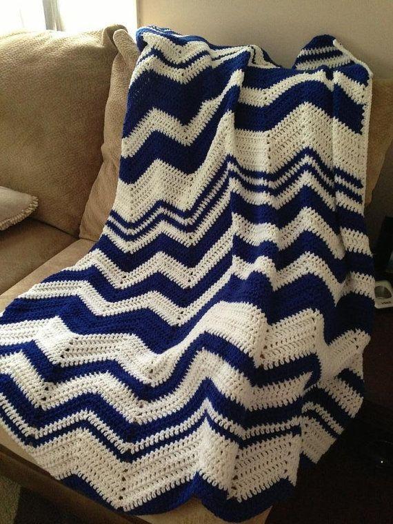Crochet Ripple Afghan by CrystalCrochetCrafts on Etsy, $65.00 ...