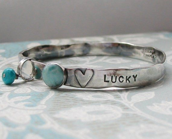 Personalized Hand Stamped Custom Words Sterling by vintagefaerie