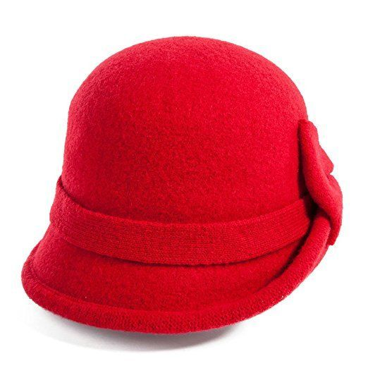 473c771633a80c 1920s Style Hats Siggi Womens 1920s Vintage Wool Felt Cloche Bucket Bowler  Hat Winter Crushable £16.98 AT vintagedancer.com #HatsForWomenBowler