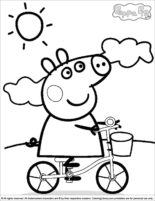 full peppa pig coloring pages | coloring pages | pinterest | peppa ... - Peppa Pig Coloring Pages Print