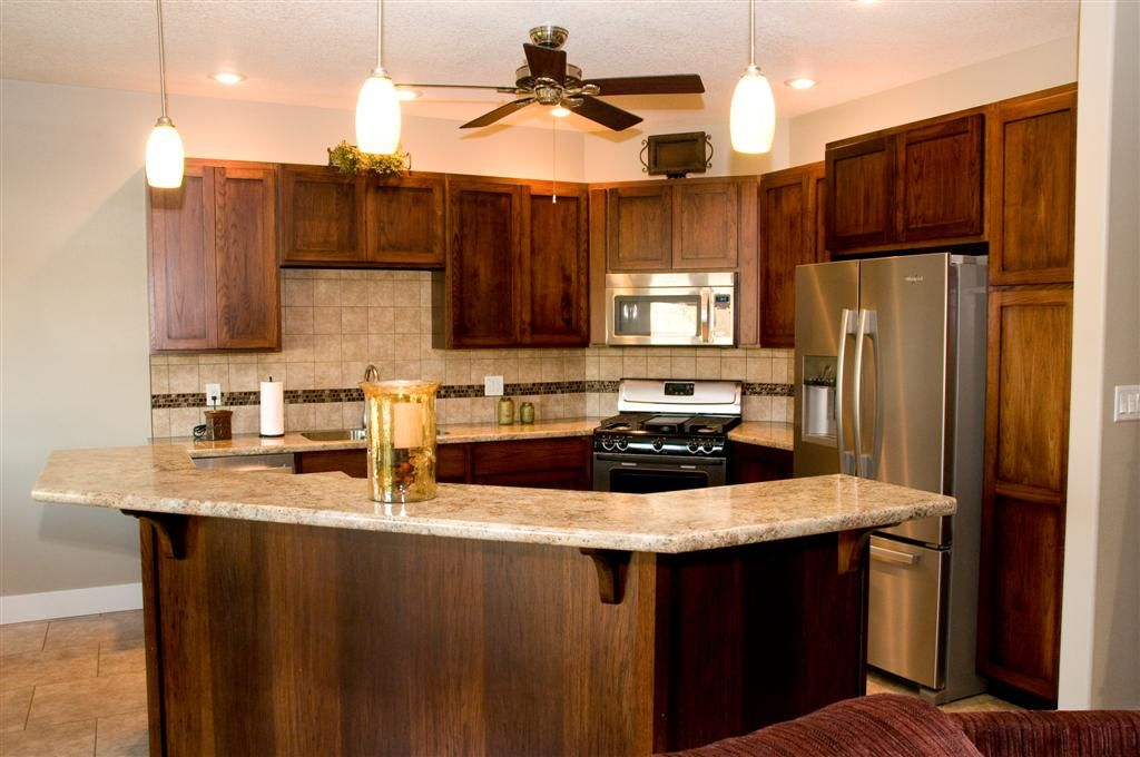 Hickory Kitchen With Shaker Style By Millbridge Cabinet Mfg Inc Waterloo Iowa Hickory Kitchen Kitchen Kitchen And Bath