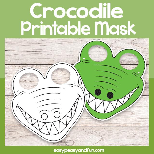 Printable Crocodile Mask Template Mask Template Printable Masks Printables