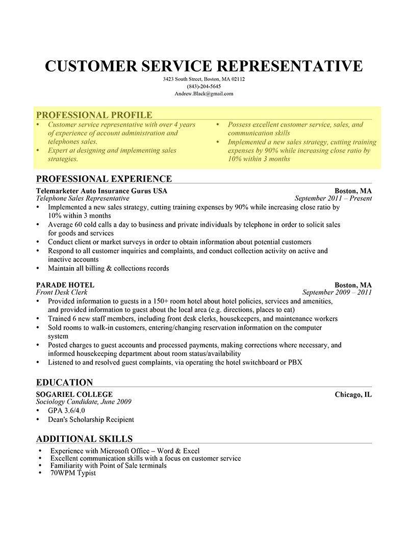 ProfessionalProfileBulletForm1.jpg (800×1067) Resume
