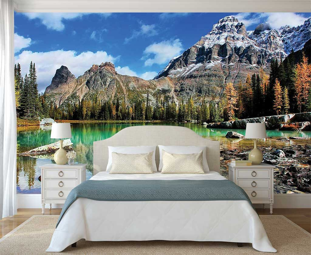 Mountain Scene Wall Mural, Rocky Mountains Wallpaper