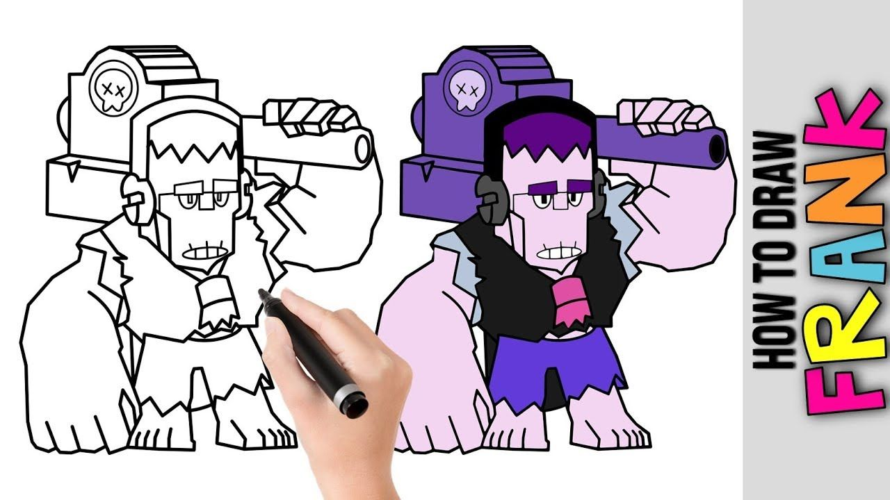 How To Draw Frank From Brawl Stars Cute Easy Drawings Tutorial