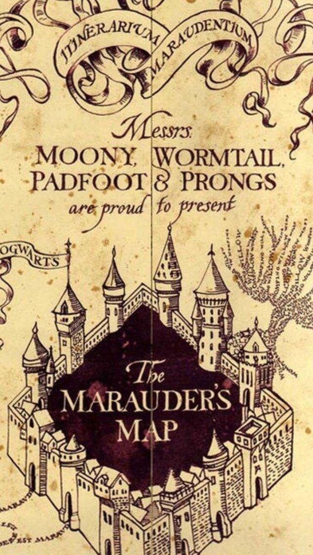 Resultado De Imagem Para Harry Potter Marauders Map Mapa Do Maroto Harry Potter Planos De Fundo