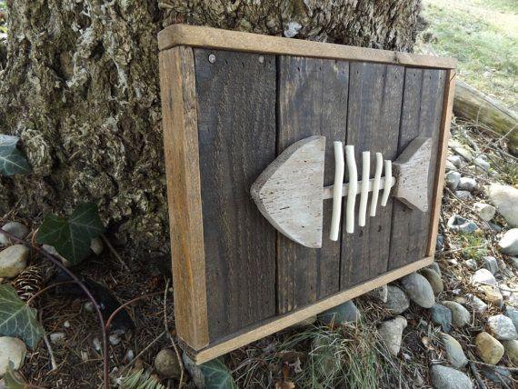 Rustic Fish Decor Lake Wood Bluegill Fishing Gift Cabin