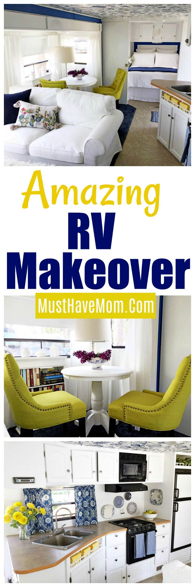 RV Makeover With Shocking Before & After Photos! | Pinterest ...