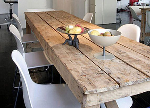 Custom Table Distressed With Reclaimed Distressed Wood Top