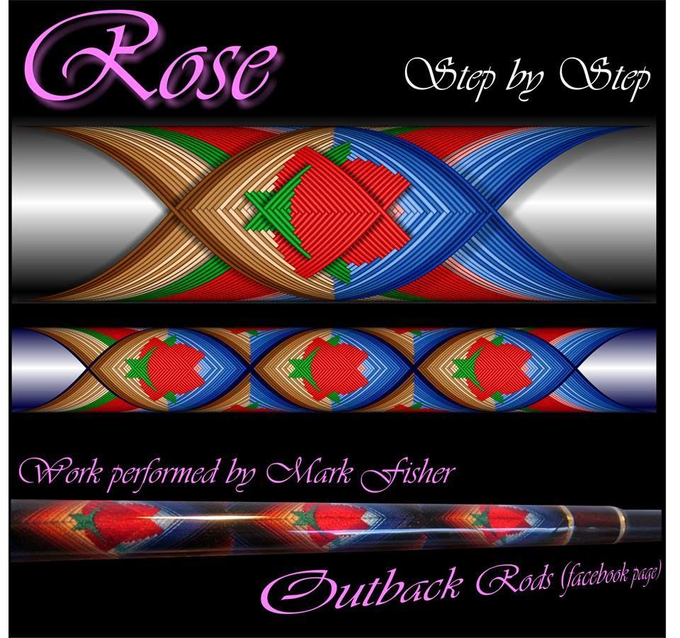 Rose Cross Wrap Pattern step by step Custom Rod Building Cross Wrap Pattern Facebook Page