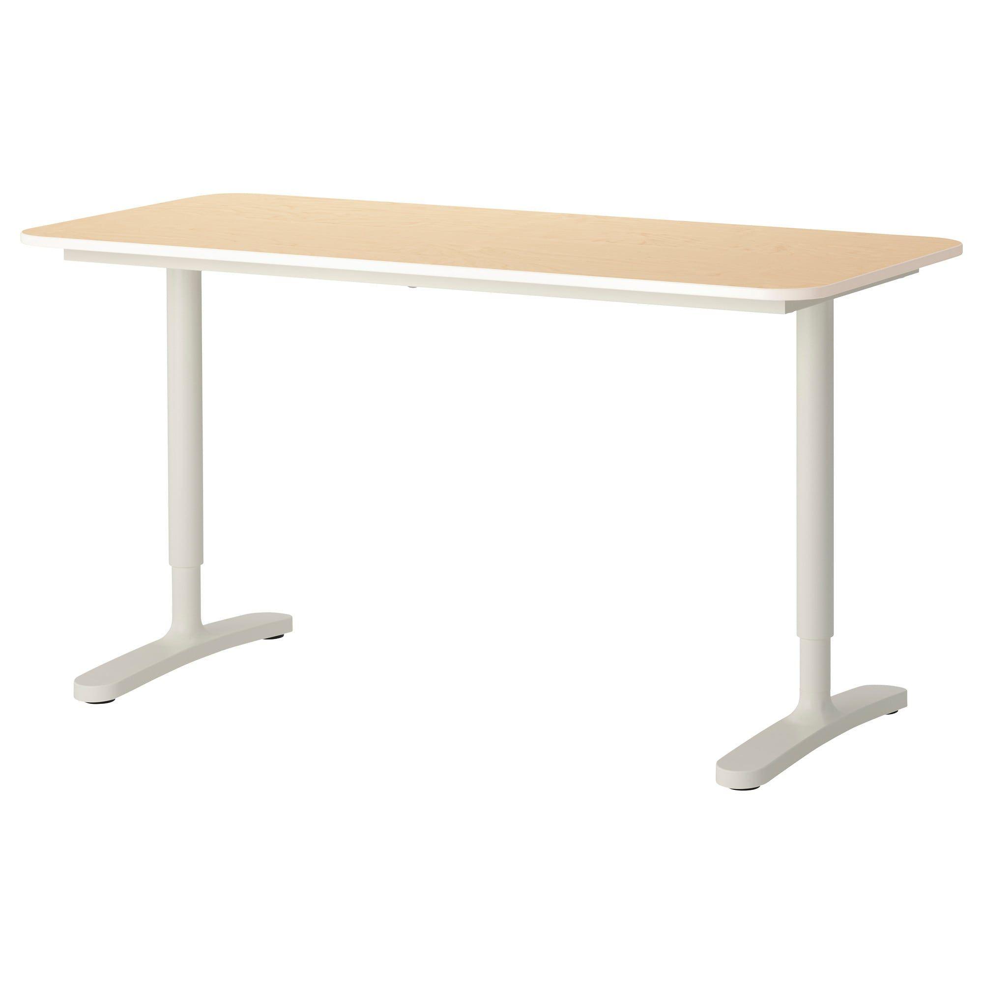 Bekant Desk  Birch Veneerwhite, 55 18X23 58