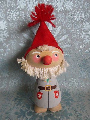 6-Scandinavian-Wood-Gnome-Elf-Tomte-Nisse-Vintage-Viking-Sweden-Norway-Denmark