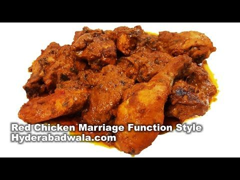 Red Chicken Hyderabadi Marriage Function Style Recipe Video Lal