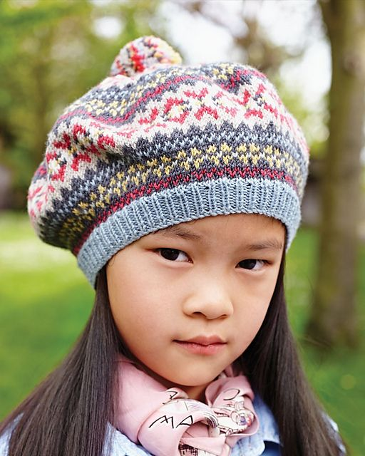 18 Fair Isle Beret pattern by Debbie Bliss | Fair isles, Berets ...