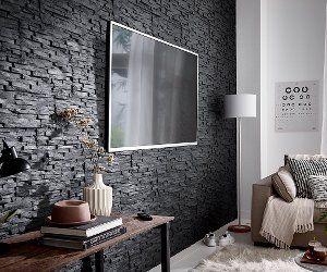 Wand Verkleiden Verblendsteine Styropor Wandverkleidung Wohnen