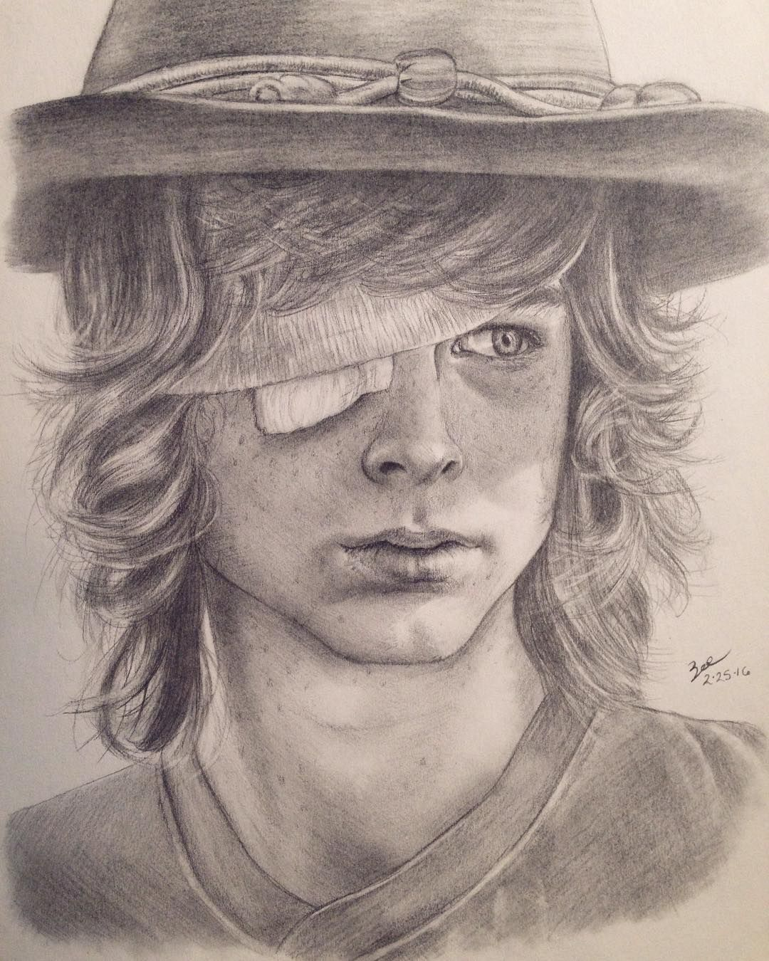Carl Grimes I Find The Art Very Nice Wish I Knew Who The Artist Was Walking Dead Art Walking Dead Drawings Fear The Walking Dead