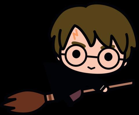 Harry Potter Kawaii Hand Drawn Little Bird And The Bean