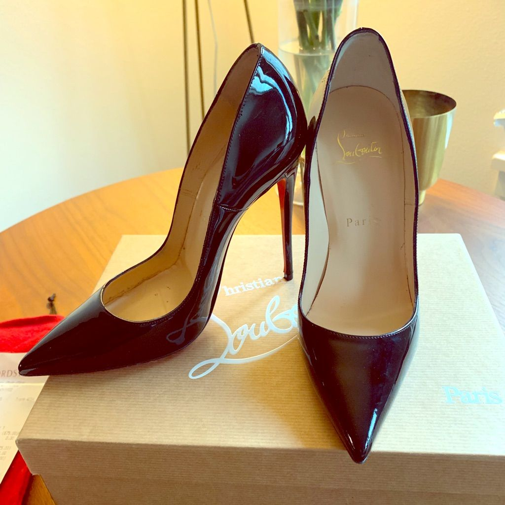 CHRISTIAN LOUBOUTIN Patent So Kate 100 Pumps 36.5 Nude 385988