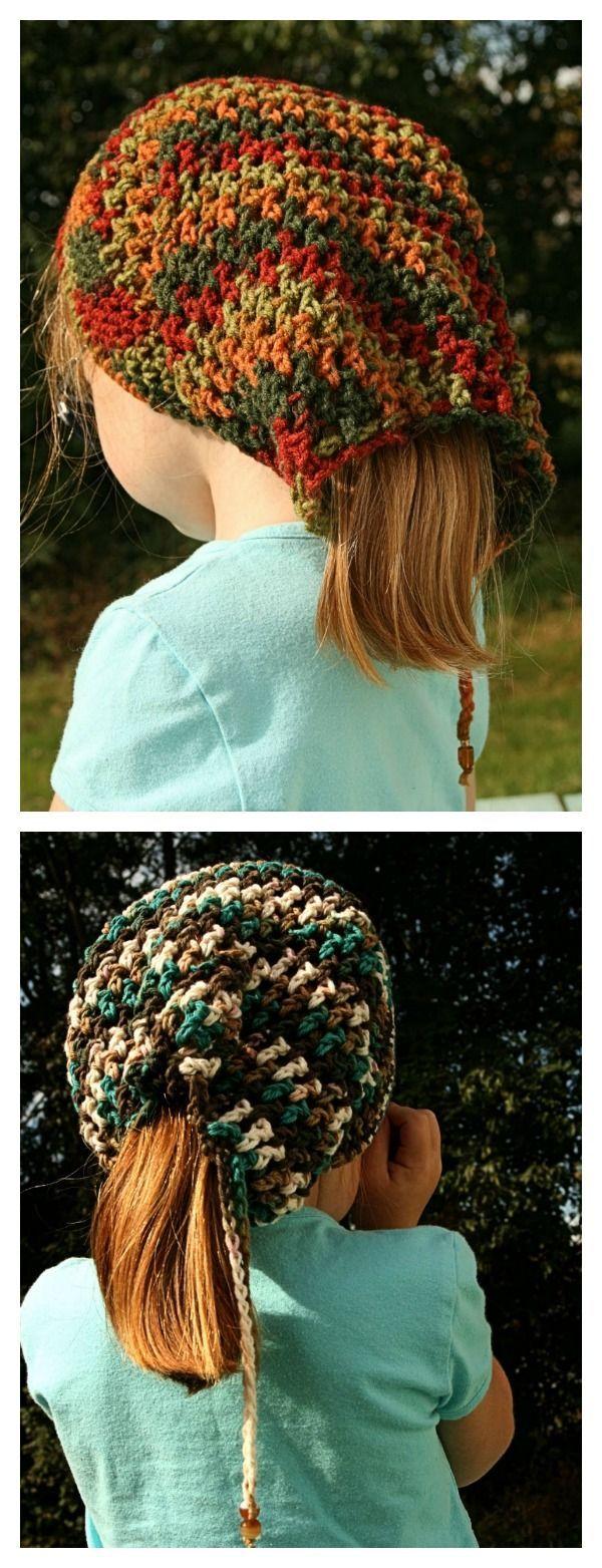 Crochet Ponytail Hat Free Patterns | Free pattern, Crochet and Patterns